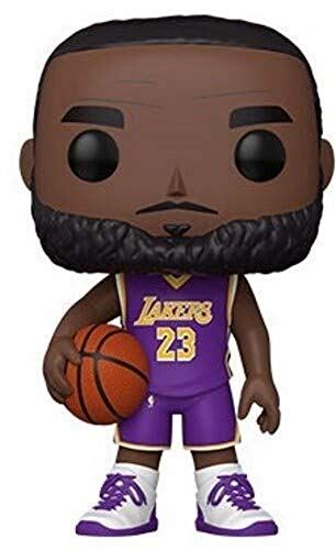 Funko POP Lakers - 10 NBA 10' Lebron James (Purple Jersey) Figura da Collezione, Multicolore, 52359