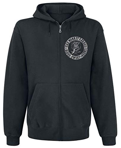 Gas Monkey Garage Logo Kapuzenjacke schwarz XL
