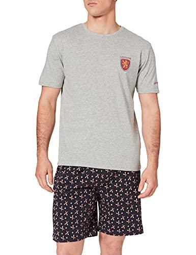 Springfield Pijama Corto Potters Juego, Azul Medio, XL para Hombre