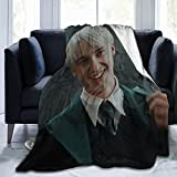 DAXING Draco-Malfoy Fleece Throw Blanket.Super Soft Plush Blanket for Winter Bedding Bed Couch Sofa 50x40 in