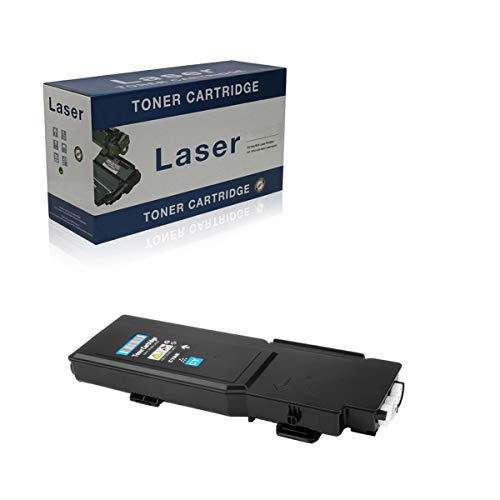 Compatible Toner Cartridges Replacement for Dell C2660 593-BBBU 593-BBBQ 593-BBBT 593-BBBS for Use with Dell C2660 C2660DN C2665DNF Printer,Cyan
