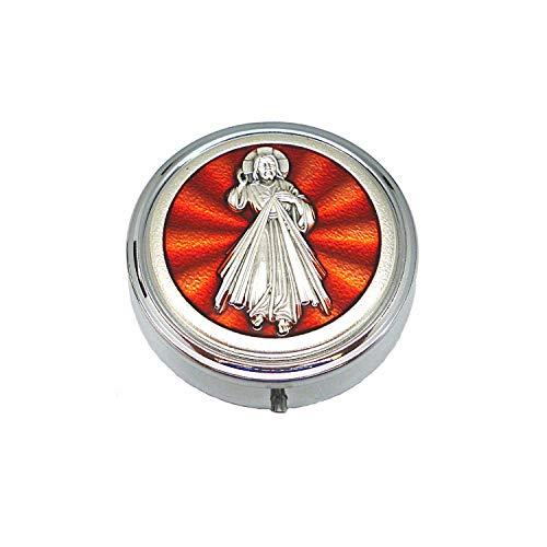 DELL'ARTE Artículos religiosos - Pastillero de 5,2 cm, esmaltado, Jesús Misericordioso