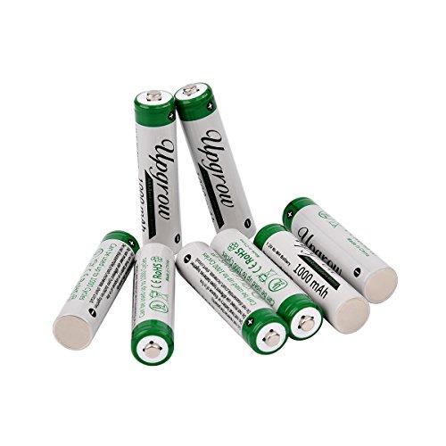 Upgrow 8X AAA Akkus Aufladbare NI-MH Akkus AAA Batterien 1000mAh AAA Akku Mit Batterie Aufbewahrungsbox