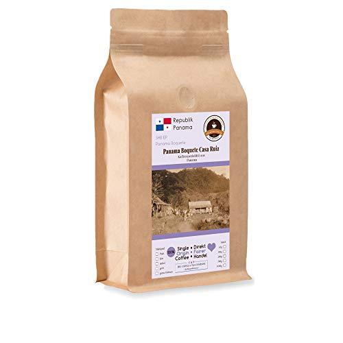 Kaffee Globetrotter - Kaffee Mit Herz - Panama Boquete Casa Ruiz - 1000 g Ganze Bohne - für Kaffee-Vollautomat, - Spitzenkaffee Fair Gehandelt Unterstützt Soziale Projekte