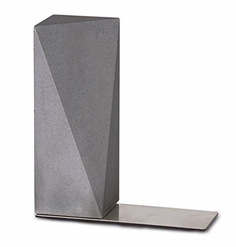 """Buchstütze """"Nordwand"""" aus Beton, zeitloses Design und klare Konturen"""