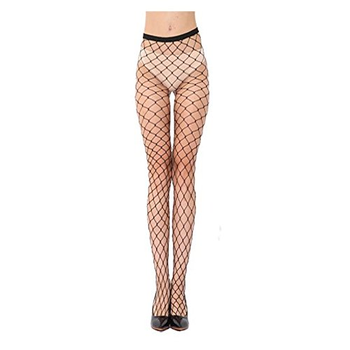 TONSEE 【Fischnetz Socken】 Overknee Strümpfe Damen Frauen Elastische Spitze Oberschenkel Strumpf Strumpfhosen (A)