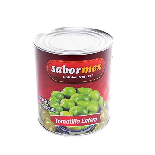 SABORMEX Tomatillo Verde Entero 2,8 kg Miltomate Mexicano en Lata Grande Tomate Verde para cocina tradicional mexicana Tomate Verde Entero en Conserva