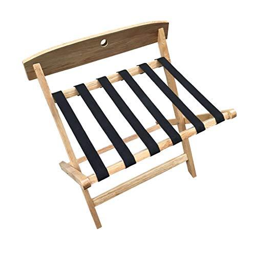 GDXLJ kofferstandaard inklapbaar massief hout hotel bagagedrager, multifunctionele logeerkamer koffer reistas opbergkast, op de vloer gemonteerde klapbeugel voor het huishouden, L 64 * B 43 * H 61 cm