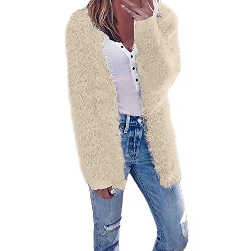 Xinantime Vrouwen Winterjas, Dames Casual Winter Lange Mouw Vest Oversized Effen Warm Zip Up Fluffy Pullover Sweatshirt Bovenkleding