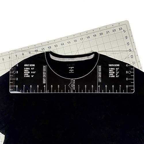 AriseSun T-Shirt Lineal Führung, Vinyl-T-Shirt-Lineal, Führung Hemd Ausrichtung Führung Werkzeug, Kleidungsstück Machen Werkzeug, Kragen Ausrichtung Lineal, Kleidung Maßstab