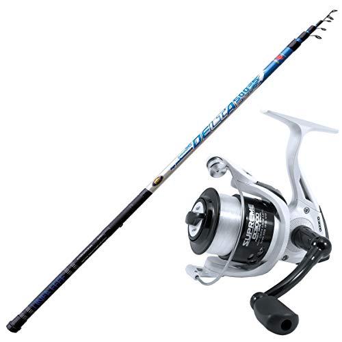 agc Kit Pesca Bolognese Composto da Canna Delta Strong 4 m + Mulinello Evo Fishing Supreme CX 3000