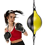 VAlinks Professional Double End Speed Bag PU Leather Punch Ball Striking Bag Kits for Boxing MMA Training Muay Thai Fitness or Fighting Sport