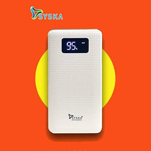 Syska Power Sleek 10000mAH Lithium Polymer Power Bank (White)