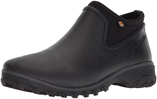 Bogs Women's Sauvie Chelsea Waterproof Garden Rain Boot, black, 10 M US