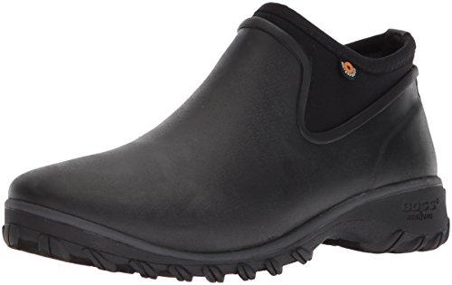 BOGS Women's Sauvie Chelsea Waterproof Garden Rain Boot, Black, 8 M US