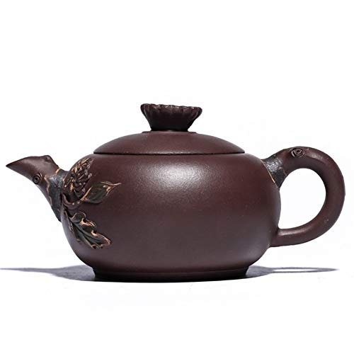 Teapot Tea cup Song Ju Craftsmen Hand-made CRTTRC Teapot (Color : Purple mud, Size : One Size)