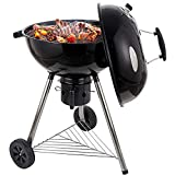 CUSIMAX Charcoal Grill Portable BBQ Grill Kettle 22.5 inch, Outdoor Grills & Smokers for Patio Backyard Barbecue Camping, Black