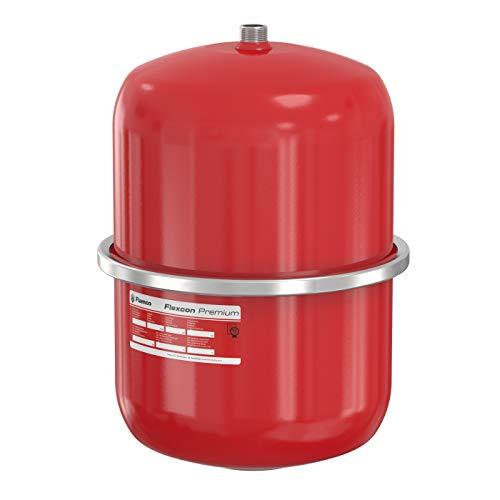 Flamco 16918 Flexcon Premium Ausdehnungsgefäß 18 Liter, 3 Bar Membran Druckausdehnungsgefäß für Heizung, Heizungsanlage und Kühlanlage, Rot, 15 Jahre Garantie