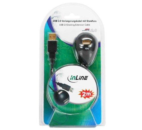 Kensington K67977WW VeriMark ultrasichere USB Fingerabdruckverschlüsselung & Inline 34652 USB 2.0 Verlängerung, Stecker / Buchse, Typ-A, schwarz, mit Standfuss, 2m