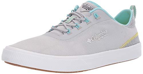 Columbia Women's Dorado PFG Boat Shoe, Silver Grey, Coastal Blue, 5