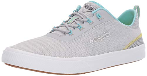 Columbia PFG Women's Dorado PFG Boat Shoe, Silver Grey, Coastal Blue, 9