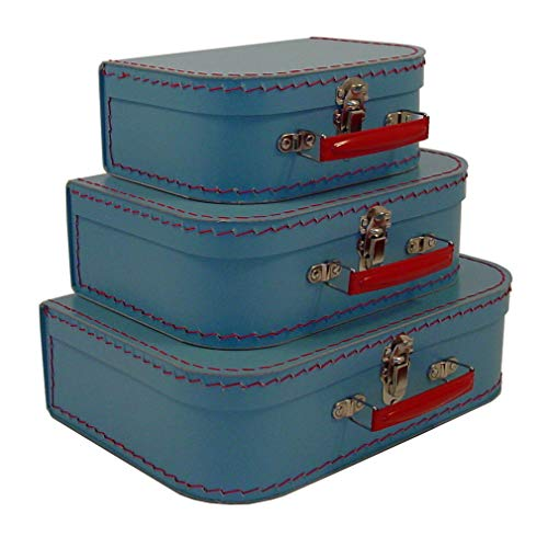 Cargo Vintage Travelers Mini Suitcases, Set of 3, Soft Blue