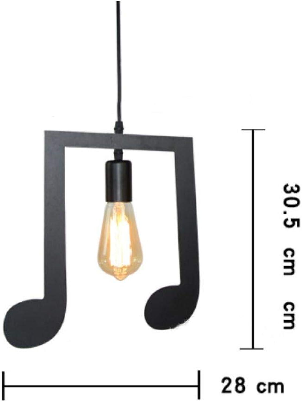 D-HHd1 Kronleuchter Nordic Note Kronleuchter Einfache moderne kreative Persnlichkeit Musikthema Mahlzeit Dekorative Lampe Home Schlafzimmer Lampe @ Abschnitt C