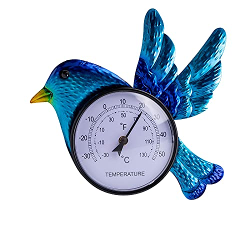 VEWOSTAR Indoor Outdoor Thermometer Hummingbird Waterproof Wall Mounted Thermometer Hanging Decor for Garden