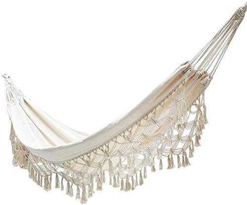 Kedorle Nordic Hammock Off Net Bed Outdoor Courtyard Swing Lace Comfortable Folding Hammock Swing Net Chair,Beige