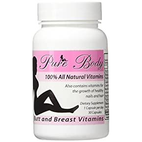 PureBody Vitamins – The #1 Butt and Breast Enhancement Supplement – All-in-One Formula – 30 Capsules