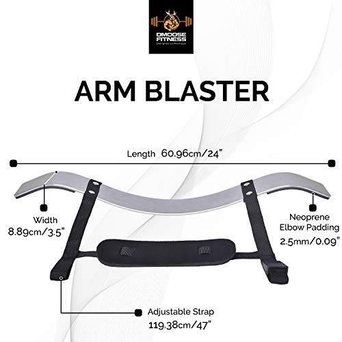 DMoose Fitness Arm Curl Blaster for Bicep Body Building and Muscle Strength Gains, Contoured and Adjustable Isolate for Curling and Weightlifting, Well Balanced Support