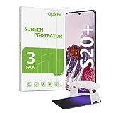 apiker Film Protection Écran Compatible avec Samsung Galaxy S20 Plus, Film Souple pour Samsung Galaxy S20 Plus, [3 Pack] Couverture Maximale, Avec une Lampe UV, Film Version Améliorée 2020