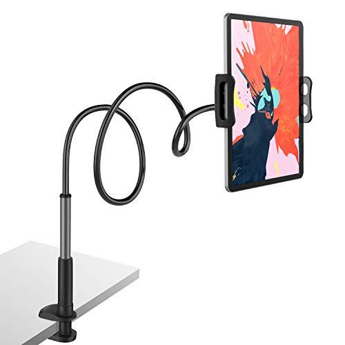 Tryone Supporto Tablet, Collo Oca Supporto Regolabile - Supporto per Tablet/iPad/iPhone/Nintendo Switch/Samsung Tab/Huawei Mediapad/Kindle e Altri, Lunghezza Complessiva 95cm
