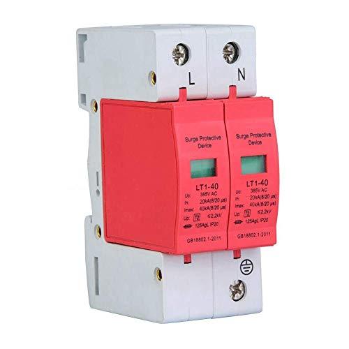 Haus-Überspannungsschutz-Telefon Blitzschutz Überspannungsableiter Überspannungsschutzgerät, Überspannungsschutzgerät Telefon Lightning Tele Protector Niederspannungsschutz(2P20-80KA)