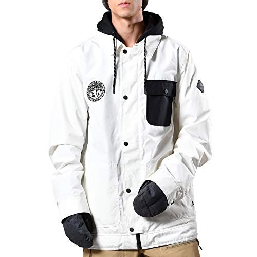 Burton Dunmore Stout White - Chaqueta de esquí para hombre (talla XS), color blanco