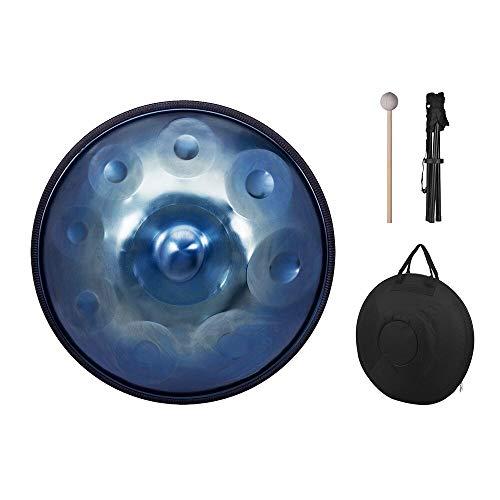 Muslady 9 Notas Mano Pan Handpan Tambor de mano Material de percusión de acero al carbono Carry Bag Metal Stand