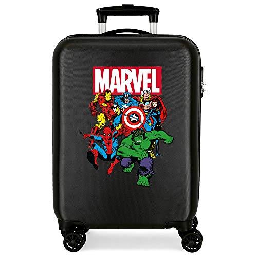 Marvel Los Vengadores Sky Avengers Maleta de cabina Negro 38x55x20 cms Rígida ABS Cierre combinación 34L 2,6Kgs 4 Ruedas Dobles Equipaje de Mano