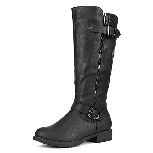DREAM PAIRS Women's Deer Black Knee High Boots Size 10.5 B(M) US