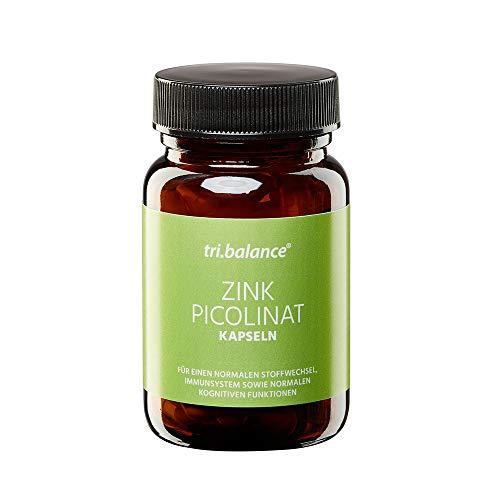 tri.balance Zink Picolinat (1 x 60 Kapseln), Spurenelemente für den Stoffwechsel und kognitive Funktionen