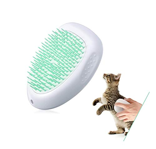SIYUAN Cat Brush and Dog Brush,Pet Brush with Cleaning Button for Shedding, Massage and Grooming,Soft and Comfortable Comb for Long and Short Haired Cats and Dogs