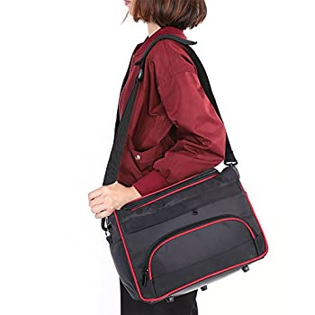 Hairdressing Bag Professional Large Storage Multi-function Portable Hairdresser s Salon Pouch Bag Makeup Travel Home Hair Stylist Tool Bag Session Bag Large Mobile Hair Salon Kit Holder  Black