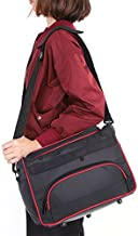 Hairdressing Bag, Professional Large Storage Multi-function Portable Hairdresser's Salon Pouch Bag, Makeup Travel Home Hair Stylist Tool Bag Session Bag Large Mobile Hair Salon Kit Holder (Black)
