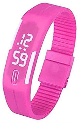 Mano Reloj Reloj de pulsera para hombre para mujer Reloj LED Fecha Pulsera deportiva Reloj de pulsera digital Coreano Estudiantes populares Fecha Silicona Señoras Relojes Relojes Decorativos Casuales