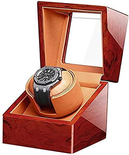 HIMFL Automatischer Uhrenbeweger für Uhren Hochwertig Uhr Aufbewahrungsbox, Rosenholz ElektromotorMute Drehmesser