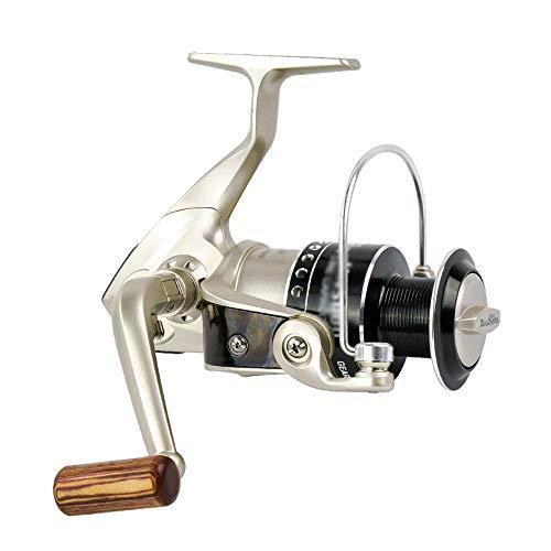 LLJPYX7L Moulinet de pêche Robuste à Haute Puissance, 14 roulements durables en Acier Inoxydable pour débutants, Rapport de Transmission de 4,9: 1 (Color : A)