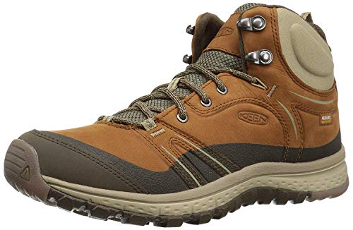 KEEN Women's Terradora Leather mid wp-w Hiking Shoe, Timber/Cornstalk,...
