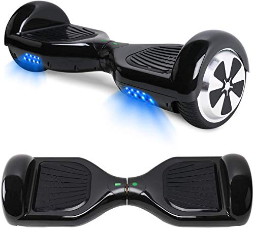 Wagoo Self Balancing Scooter Hoverboard with Bluetooth Speaker Hoverboards for Kids Age 8-12 gifts for kids Boys Girls (Black)