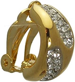 Eppie Gold plated Crystal Clip On Earrings
