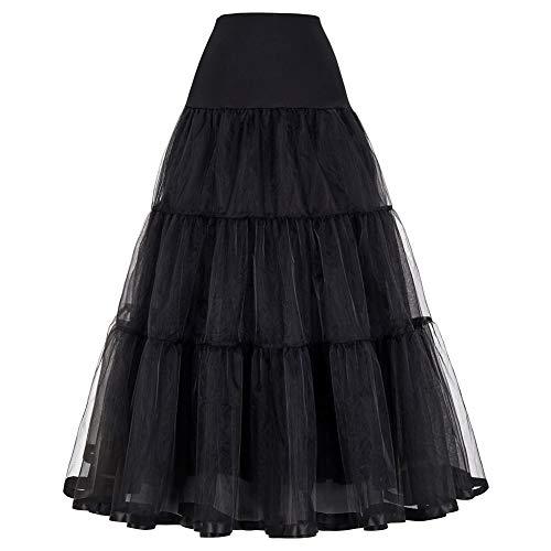 GRACE KARIN Underskirt Women Rockabilly Petticoat Reifrock für brautkleid Unterrock XL CL421-1