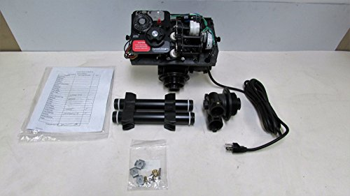 Fleck 9100 Mechanical Water Softener Control Valve Dual Tank Replacement Head, Black